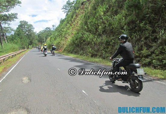 Đường đi du lịch Đà Lạt bằng xe máy như thế nào? Hướng dẫn cách đi du lịch tới Đà Lạt bằng xe máy