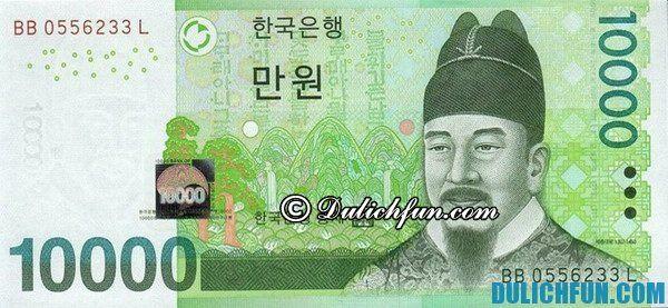 Won (KRW, kí hiệu ₩) là đơn vị tiền tệ chính thức ở Hàn Quốc.