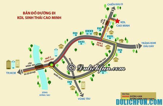 Đường đi khu du lịch Cao Minh như nào? Hướng dẫn cách đi tới khu du lịch Cao Minh