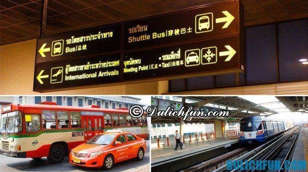 Đi từ sân bay Don Mueang tới Bangkok bằng xe buýt sân bay
