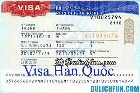 Hướng dẫn xin visa Hàn Quốc