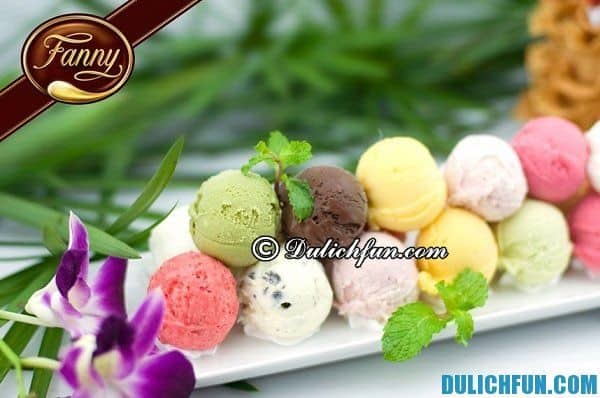 Fanny - quán kem nổi tiếng ở Sài Gòn