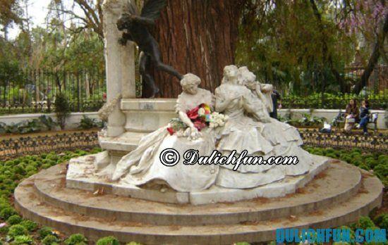 Đi đâu, chơi gì khi du lịch Sevilla? Công viên Maria Luisa, địa điểm tham quan, du lịch nổi tiếng ở Sevilla