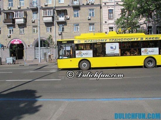 Phương tiện công cộng ở Ukraina: Du lịch Ukraina đi bằng phương tiện gì?