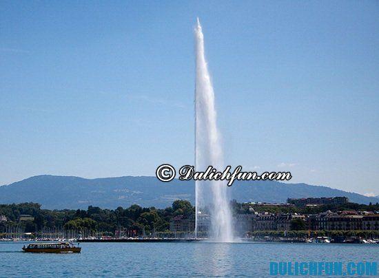 Đi đâu, chơi gì khi du lịch Geneva? Hồ Geneva, địa điểm du lịch nổi tiếng ở Geneva không nên bỏ lỡ