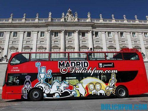 Hướng dẫn du lịch Madrid giá rẻ. Phương tiện đi lại ở Madrid