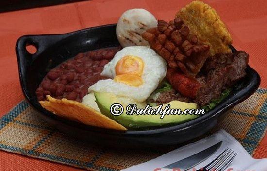Kinh nghiệm ăn uống khi du lịch Colombia? Bandeja Paisa, món ăn ngon, đặc sản nổi tiếng nhất ở Colombia