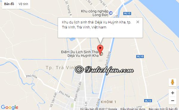 Du lịch sinh thái Déjà vu Huỳnh Kha. Vị trí, đường đi, cách di chuyển tới khu du lịch Huỳnh Kha