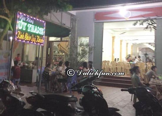 Du lịch Cô Tô nên ăn gì, ở đâu? Nhà hàng Úy Thanh, địa chỉ nhà hàng, quán ăn ngon, nổi tiếng ở Cô Tô