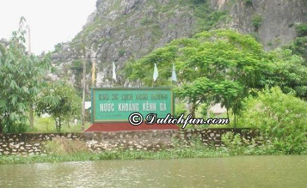 Kinh nghiệm du lịch suối nước nóng kênh Gà, Ninh Bình. Đường tới suối nước nóng kênh Gà, Ninh Bình