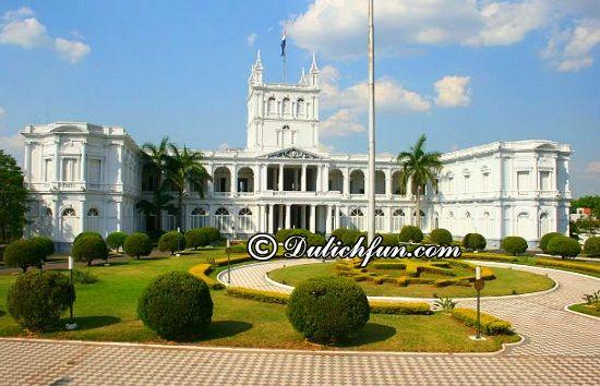 Hướng dẫn lịch trình tham quan, vui chơi, ăn uống khi du lịch Paraguay: Đi đâu, chơi gì khi du lịch Paraguay? Thủ đô Asunción, địa điểm tham quan, du lịch nổi tiếng ở Paraguay