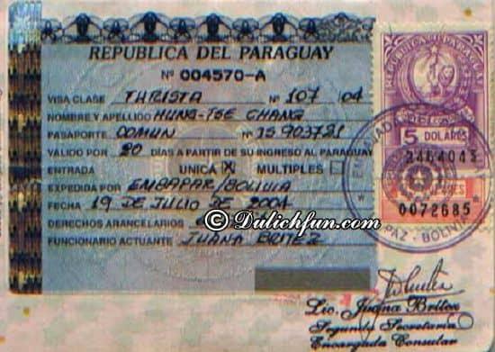Du lịch Paraguay có cần Visa hay không? Hướng dẫn cách xin Visa du lịch Paraguay đơn giản, dễ dàng