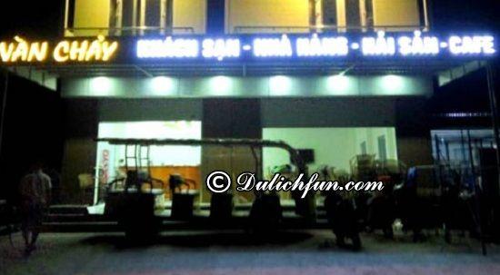 Địa điểm ăn uống ngon, bổ, rẻ ở Cô Tô: Nhà hàng trong khuôn viên khách sạn Vàn Chảy, địa chỉ nhà hàng, quán ăn ngon ở Cô Tô