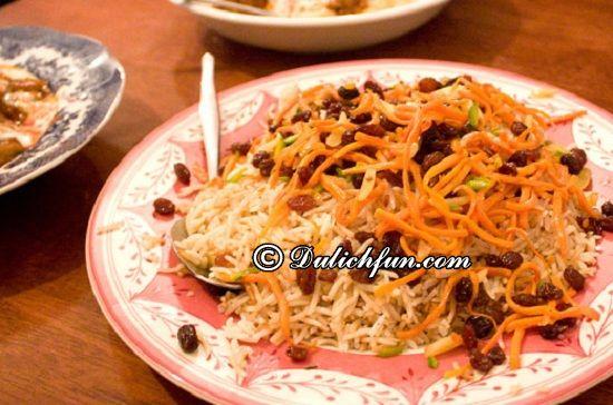 Du lịch Kazakhstan nên ăn gì? Cơm thập cẩm (palaw), món ăn ngon, đặc sản nổi tiếng ở Kazakhstan
