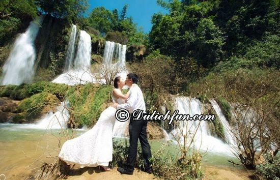 Đi Mộc Châu nên chụp ảnh cưới ở đâu? Thác Dải Yếm, địa điểm chụp ảnh cưới đẹp, hấp dẫn ở Mộc Châu