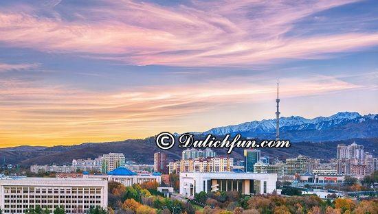 Đi đâu, chơi gì khi du lịch Kazakhstan? Thành phố Almaty, địa điểm tham quan, du lịch nổi tiếng ở Kazakhstan