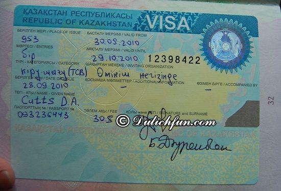 Du lịch Kazakhstan có cần Visa hay không? Hướng dẫn xin Visa du lịch Kazakhstan đơn giản, thuận lợi