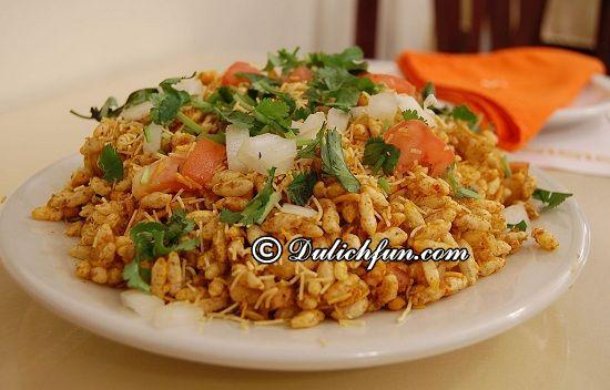 Kinh nghiệm ăn uống khi du lịch Mumbai: Ở Mumbai có đặc sản gì? BHEL Puri, món ăn ngon, đặc sản được yêu thích nhất ở Mumbai