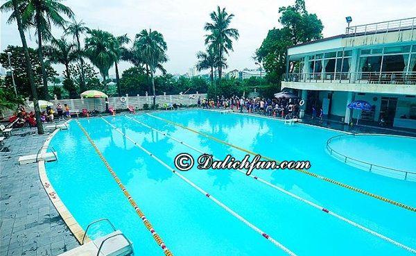 Danh sách các bể bơi đẹp, sạch sẽ ở Hà Nội theo quận cụ thể giá vé, địa chỉ. Những bể bơi tốt ở Hà Nội. Các bể bơi tại Hà Nội giờ mở cửa, giá vé