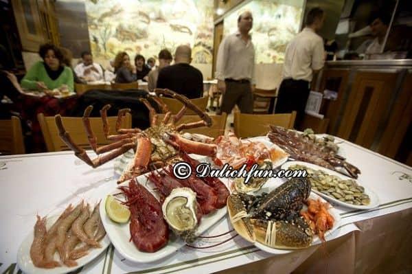Ẩm thực – Món ngon ở Lisbon. Kinh nghiệm du lịch Lisbon. Địa chỉ ăn uống nổi tiếng ở Lisbon