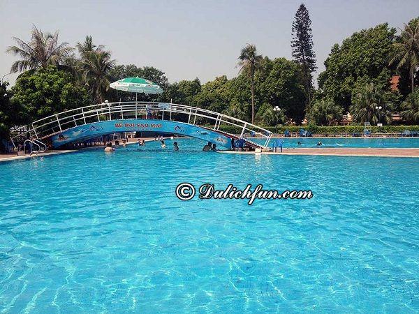 Địa chỉ, giá vé, giờ mở cửa những bể bơi tốt nhất ở Hà Nội view đẹp, rộng, sang chảnh. Nên đi bơi ở đâu Hà Nội?
