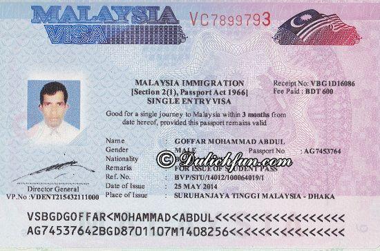 Thủ tục xin Visa Malaysia cần những gì? Những giấy tờ cần chuẩn bị xin Visa Malaysia