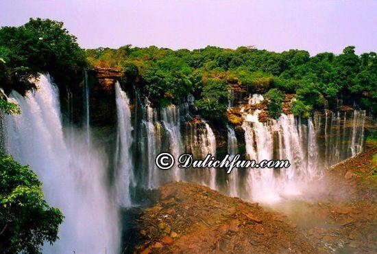 Hướng dẫn đi tham quan, vui chơi khi du lịch Angola: Thác nước Kalandula, địa điểm tham quan, du lịch được yêu thích nhất ở Angola