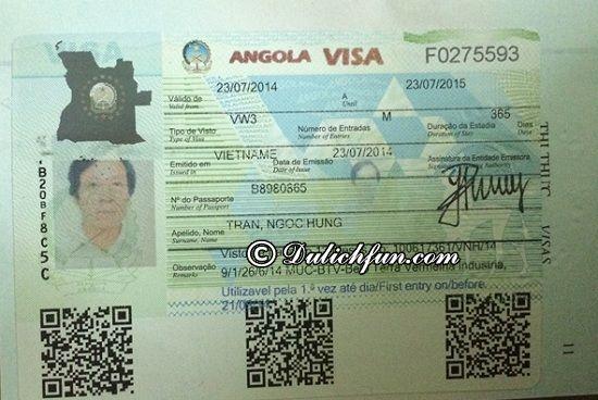 Du lịch Angola có phải xin Visa không? Hướng dẫn thủ tục xin Visa du lịch Angola