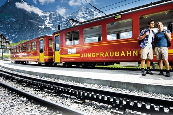 Kinh nghiệm du lịch Jungfrau, Thụy Sĩ vừa đẹp vừa chất. Hướng dẫn đi tàu đi du lịch Fungfrau, Thụy Sỹ