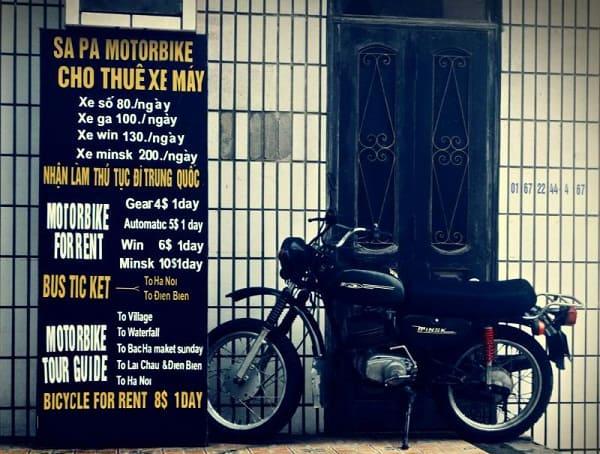 Thuê xe máy ở đâu khi du lịch Sapa? Kinh nghiệm thuê xe máy ở Sapa cụ thể giá cả kèm địa chỉ. Hướng dẫn, lưu ý quan trọng khi thuê xe máy ở Sapa an toàn, tiết kiệm.