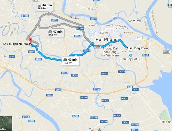 Hướng dẫn đường đi tham quan, du lịch núi Voi, Hải Phòng: Phượt núi Voi, Hải Phòng đi đường nào nhanh, gần nhất?