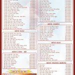 Bảng giá thực đơn nhà hàng trong khu du lịch Long Điền Sơn: Ăn gì trong khu du lịch Long Điền Sơn?