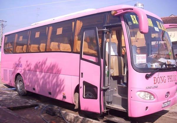 Hướng dẫn đường đi và phương tiện di chuyển tới khu du lịch Long Điền Sơn, Tây Ninh: Xe khách đi tới khu du lịch Long Điền Sơn từ Sài Gòn