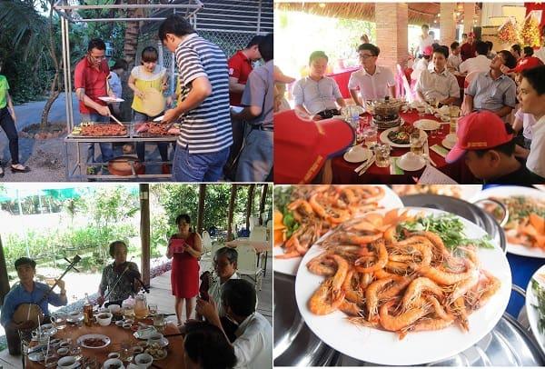 Hướng dẫn đi tham quan, vui chơi giải trí ở KDL Phú An Khang Bến Tre: Kinh nghiệm ăn uống ở khu du lịch Phú An Khang Bến Tre