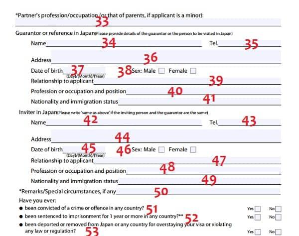 Hướng dẫn cách điền mẫu đơn xin visa đi Nhật chi tiết A-Z