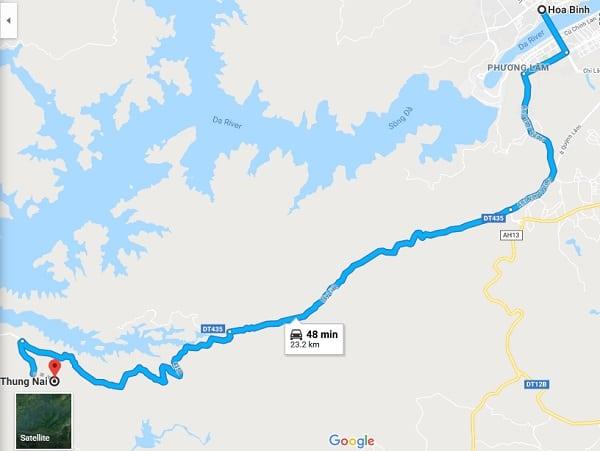 Hướng dẫn đường đi, cách di chuyển từ Hà Nội đến Hòa Bình