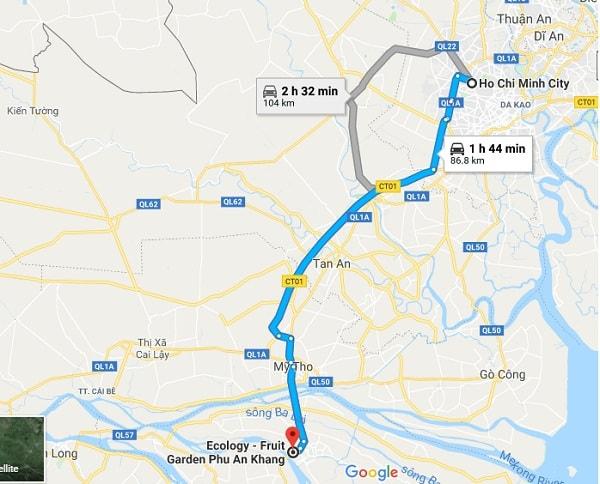 Hướng dẫn đường đi phượt khu du lịch Phú An Khang từ Sài Gòn: Kinh nghiệm di chuyển từ KDL Phú An Khang từ Sài Gòn