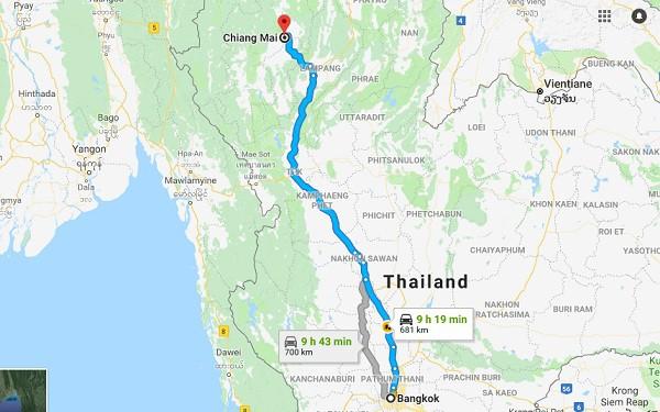 Phương tiện đi Chiang Mai từ Bangkok nhanh, giá rẻ: Hướng dẫn đường đi từ Bangkok tới Chiang Mai