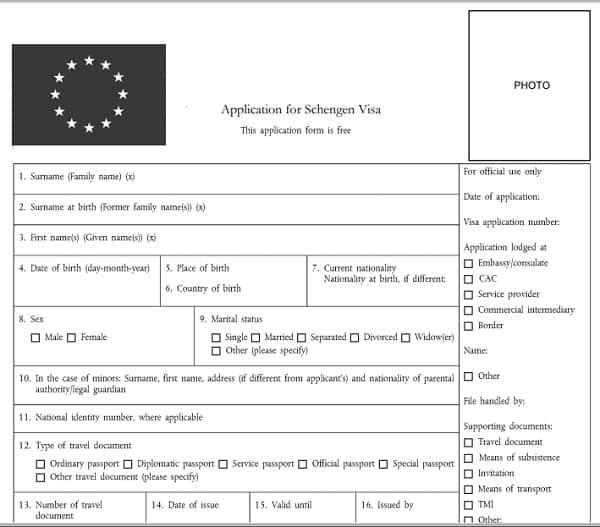 Hướng dẫn điền form xin visa đi Châu Âu: Viết tờ khai xin visa đi khối Schengen như thế nào?