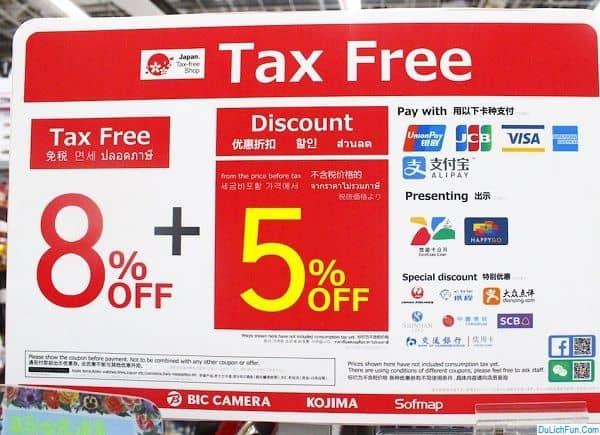 Mức thuế tiêu dùng ở Nhật là bao nhiêu %? Mua hàng miễn thuế ở Nhật được giảm bao nhiêu %?Kinh nghiệm mua hàng miễn thuế ở Nhật Bản