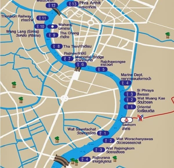 Hướng dẫn đường đi tới cung điện hoàng gia Thái Lan chi tiết. Kinh nghiệm, cách di chuyển tới cung điện hoàng gia Thái Lan từ A-Z