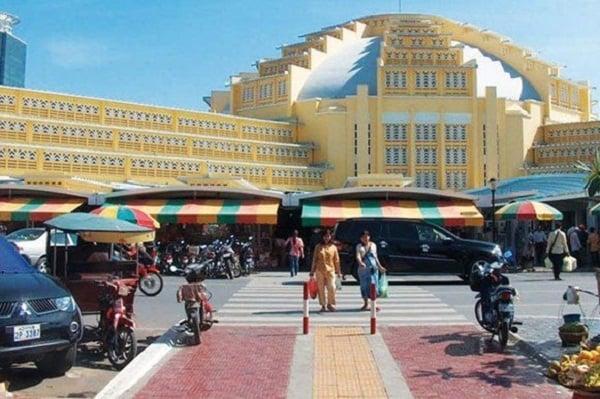 Các điểm mua sắm nổi tiếng ở Phnom Penh phong phú giá rẻ. Địa chỉ những khu chợ, trung tâm thương mại ở Phnom Penh