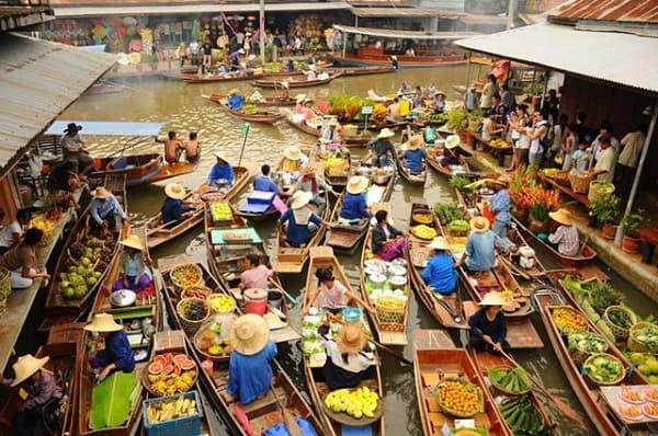 Các khu chợ nổi lớn nhất ở Thái Lan đẹp quên lối về. Du lịch chợ nổi ở Thái Lan? Các khu chợ nổi nổi tiếng nhất ở Thái Lan.