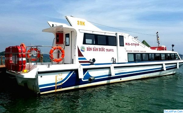 Kinh nghiệm du lịch quần đảo Bà Lụa: Lịch trình chạy tàu đi du lịch quần đảo Bà Lụa