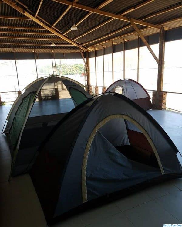 Kinh nghiệm phượt quần đảo Bà Lụa: Thuê lều trại ở quần đảo Bà Lụa