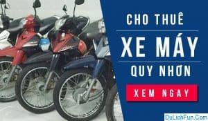 Top điểm cho thuê xe máy ở Quy Nhơn chất lượng, giá rẻ