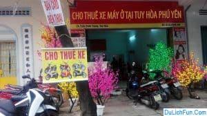 Danh sách các địa chỉ thuê xe máy tốt ở Tuy Hòa, Phú Yên