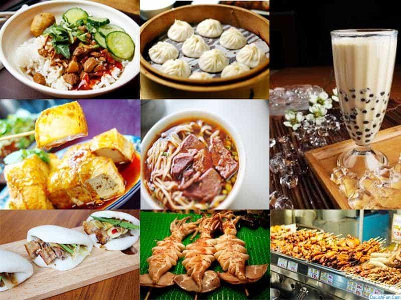 Các khu ẩm thực nổi tiếng ở Đài Loan nhất định bạn phải biết. Địa chỉ ăn uống ngon, rẻ, đông khách ở Đài Loan cụ thể hàng quán...