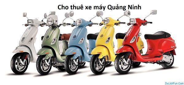 Top địa chỉ cho thuê xe máy tốt nhất ở Quảng Ninh cập nhật. Kinh nghiệm thuê xe máy ở Quảng Ninh giá thành, địa chỉ, liên hệ...