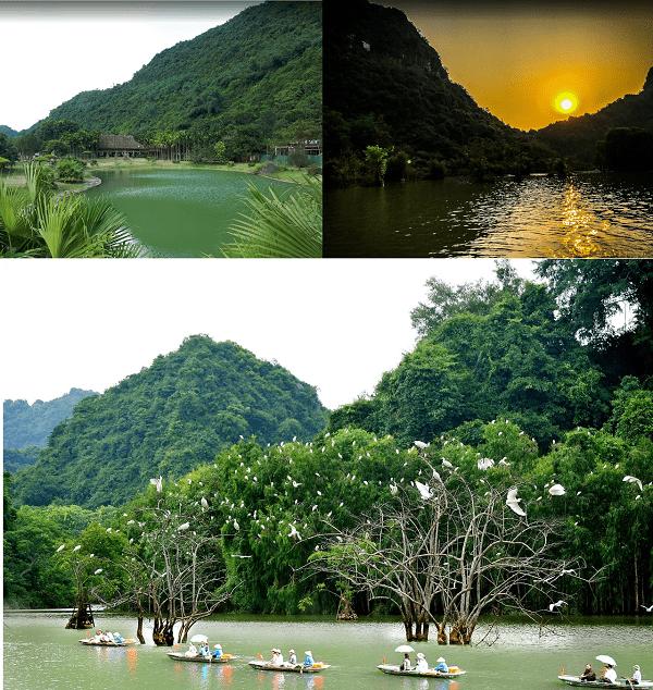 Kinh nghiệm du lịch Ninh Bình giá rẻ. Địa điểm tham quan hấp dẫn, nổi tiếng ở Ninh Bình. Vườn chim Thung Nham